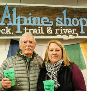 "Alpine Shop Owners Russell ""Holly"" & Lisa Hollenbeck."